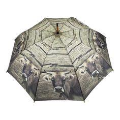 umbrella wood swiss cow