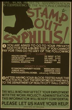 1930s. The sheer terror of syphilis.