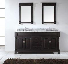 Virtu Usa Huntshire 96 Inch Double Sink Bathroom Vanity Set With