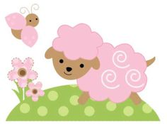 Barnyard Farm Animals Wall Decals Baby Girl Pink Nursery Kids Room Sticker Decor for sale online Girls Wall Stickers, Room Stickers, Sheep Logo, Animal Wall Decals, Barnyard Animals, Handmade Birthday Cards, Applique Designs, Baby Sewing, Baby Quilts