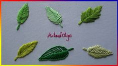 Embroidery Stitches Tutorial 6 leaf embroidery stitches - Step by step Embroidery Leaf, Hand Embroidery Videos, Embroidery Stitches Tutorial, Hand Embroidery Flowers, Flower Embroidery Designs, Learn Embroidery, Embroidered Leaves, Embroidery For Beginners, Hand Embroidery Patterns