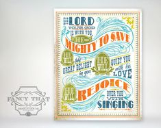 8x10 art print  Mighty To Save  Aged & by FancyThatDesignHouse