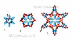 Free pattern for beaded earrings Twin Stars - 2 ----- U need Seed beads and Tween Beads Free Beading Tutorials, Beading Patterns Free, Beaded Jewelry Patterns, Beading Projects, Free Pattern, Bead Patterns, Beaded Braclets, Bead Loom Bracelets, Beaded Earrings