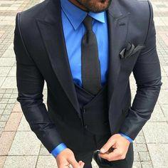 Black and blue ➡️@mens.fashiononline