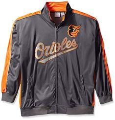 MLB Baltimore Orioles Men's Team Reflective Tricot Track Jacket, X-Large/Tall, Charcoal/Orange  https://allstarsportsfan.com/product/mlb-baltimore-orioles-mens-team-reflective-tricot-track-jacket-x-large-tall-charcoal-orange/  Official Authentic MLB product Reflective track jacket 100% polyester
