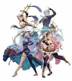 Inigo, Shigure, Azura and Olivia
