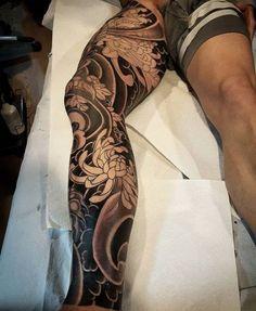 ideas tattoo back of arm men ink – Tattoo Designs Japanese Leg Tattoo, Japanese Legs, Japanese Tattoo Designs, Japanese Sleeve Tattoos, Tattoo Designs Men, Tattoos Bein, Full Leg Tattoos, Body Art Tattoos, Asian Tattoos