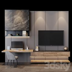 Bedroom Tv Unit Design, Lcd Unit Design, Tv Unit Interior Design, Living Room Partition Design, Room Partition Designs, Living Room Tv Unit Designs, Tv Wall Design, Home Room Design, Home Office Design