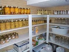 basement storage for canning