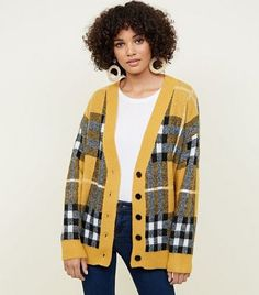 Discover the latest trends at New Look. New Look Uk, Oversized Cardigan, Mustard, Knitwear, Latest Trends, Blazer, Sweaters, Jackets, Clothes