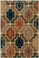 Kasbah is a collection of spaced-dyed nylon area rugs in deep indigo blue and cool gray and bright pops of tangerine, mustard and clean ivory.  Abstract art looks, tiled motifs and modern tribal elements come together to complete the global feel.