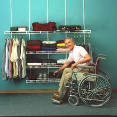 Accessible closet-on-a-wall.  >>> See it. Believe it. Do it. Watch thousands of spinal cord injury videos at SPINALpedia.com  #aginginplace