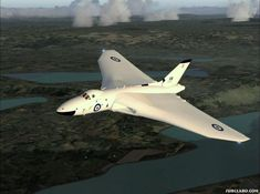 British Avro Vulcan Bomber (officially Hawker Siddeley Vulcan) strategic bomber, which was operated by the RAF from 1956 until 1984 Military Jets, Military Aircraft, Fighter Aircraft, Fighter Jets, Vickers Valiant, War Jet, Avro Vulcan, Airplane Flying, The Valiant