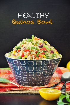 Healthy Quinoa Bowl | Save and organize your favourite recipes on your iPhone and iPad with @RecipeTin! Find out more www.recipetinapp.com #recipes #vegan #legumes