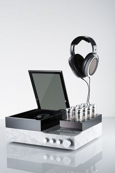 The £30,000 Sennheiser Orpheus headphones include a valve pre-amp encased in Italian marble for audiophile level quality