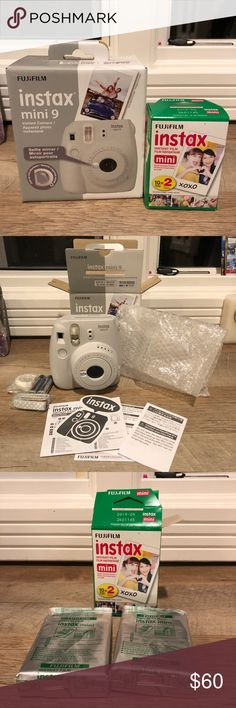 Instax 9 Instant Camera with Film Brand new, never used Fujifilm Instax mini 9 instant camera with 2 packs of film. Never used - opened just to take pictures for this posting! fujifilm Other