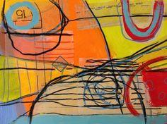 """Trail Narrows - 16"""" x 20"""" (framed) : Studio/Gallery Inventory : Susan Finsen - Mark Maker"""