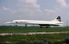 G-BOAE Concorde British Airways Heathrow 7.7.91 copyright © 1991 Chris Chennell http://milehighjobs.co.uk