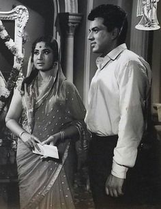 Meena Kumari and Dharmendra