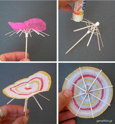 Cocktail umbrellas for parties-οδηγιες για να μεταμορφωσετε τις ομπρέλες κοκτέιλ