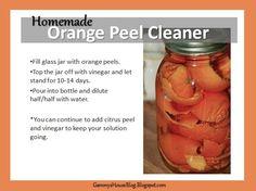 Gammy's House Blog: Homemade Orange Peel Cleaner