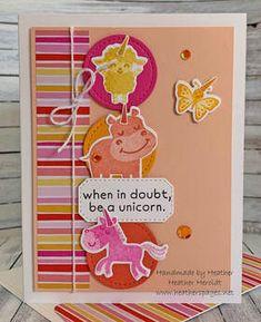 Unicorn Birthday Cards, Kids Birthday Cards, Scrapbooking, Scrapbook Cards, Graduation Cards Handmade, Motivational Cards, Stampin Up Catalog, Kids Cards, Baby Cards