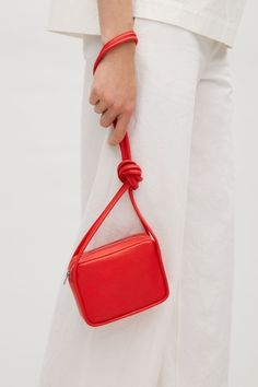 COS image 8 of Mini shoulder bag in Red Doodle Bags, Cos Bags, Coach Rogue, Floral Tote Bags, Valentino Bags, Summer Bags, Black Backpack, Bag Making, Bucket Bag