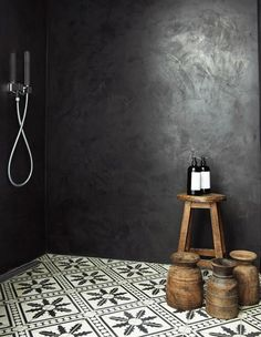 Tadelakt (tadla:kt) is a waterproof plaster surface used in Moroccan architecture to make baths, sinks, water vessels, interior and exterior walls, ceilings, roofs, and even floors. It is made from lime plaster, which is rammed, polished, and treated with soap to make it waterproof and water-repellant.