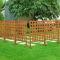 A great way to decorate or provide privacy in your yard is by using a Wooden Fence or wooden partition. Wooden fence is easy to install from a. Outdoor Privacy, Outdoor Decor, Outdoor Ideas, Backyard Privacy, Privacy Fences, Privacy Screens, Outdoor Spaces, Outdoor Living, Backyard Plants