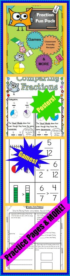 A Fraction Bundle packed with fun and engaging activities to teach and reinforce fractions.  Common Core Aligned.