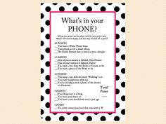 what's in your phone phone game what's in your by MagicalPrintable