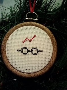 Harry Potter Cross Stitch Christmas Ornament! A great gift for a fan!.