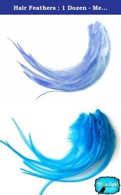 Hair Feathers ; 1 Dozen - Medium SOLID LIGHT BLUE Rooster Hair Extension Feathers. This listing is for 12 pieces of individual premium quality genetic rooster hair extension feathers. Each of these beautiful long feather ranges from 6 to 7 inches in length. There is a mixture of thick and thin light blue feathers in this length.No color compares to the cuteness of solid light blue. So soft and so precious! Add some serious cute to your hair with Solid Light Blue feathers!These genetic...
