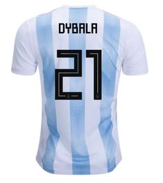2018 World Cup Argentina  21(Dybala) Home Blue and White Thailand Soccer  Jersey 953447a24