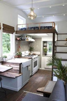 50 Minimalist Tiny House Design Ideas That Inspire Tiny House Design design House ideas inspire Minimalist Tiny tinyhoused tinyhousedesign Buy A Tiny House, Tiny House Loft, Tiny House Living, Tiny House Plans, Tiny House Design, Tiny Houses, Loft Design, Tiny Loft, Tiny House Kitchens