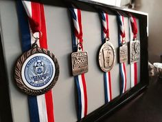 What to do with old medals you can't get rid of? Frame them for a polished look
