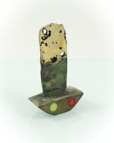 Mobil jewelery, horn wood/bronze/Murano glass, 4 cm. www.leontinpaun.ro Buy online - www.fine-art.ro