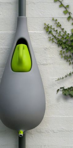 'A Drop of Water' a rain barrel with watering can #ecofriendly #design