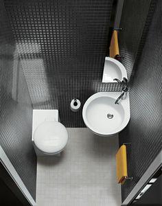 waschbecken rund toilette badezimmer fliesen