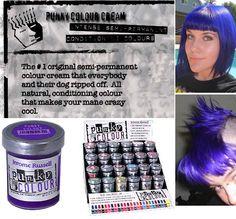 violet semi permanent cream dye by punky colour - Punky Color