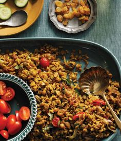 Vegetarian Lebanese Rice and Lentil Pilaf with Add-In Bar