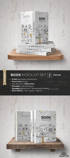 Book Mock-Up Set - 2 - 5278424