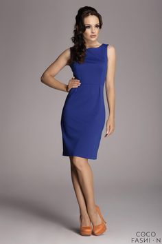 Figl 79 formal/casual classic midi dress with wide vest sleeves Sexy Dresses, Beautiful Dresses, Dresses For Work, Blue Feed, New Dress, Dress Up, Blue Flower Dress, Fashion News, Fashion Outfits