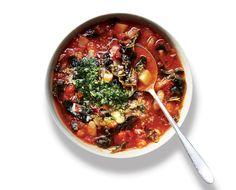 kale minestrone with pistou | bon appétit