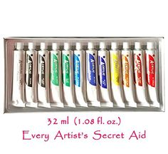 "12 Non Toxic 32ml #Acrylic #Paint Set The Secret Behind Every Great Artist... is expression in each paint brush stroke! ""Every Painting is a Highway of Imaginati..."