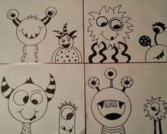Circle Monsters. This lesson idea could easily be used as a sub lesson. You can find this idea over on Mrs. Pearce's Art Room blog.  *****************************************************************