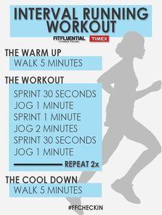 bcae8e074cd Interval running workout Running Intervals, Interval Running Workouts,  Cardio, Sprint Workout, Outdoor