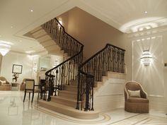 portland stone staircase. Mayfair London. www.thestonemasonrycompany.co.uk