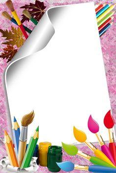 borders and frames ile ilgili görsel sonucu Boarder Designs, Page Borders Design, Boarders And Frames, School Frame, Borders For Paper, Paper Frames, Art Party, Writing Paper, Flower Frame