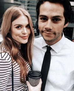 Dylan and Holland Teen Wolf Stydia, Teen Wolf Stiles, Teen Wolf Cast, Dylan O'brien, Styles And Lydia, Cant Help Falling In Love, O Brian, Lydia Martin, Clothing Logo